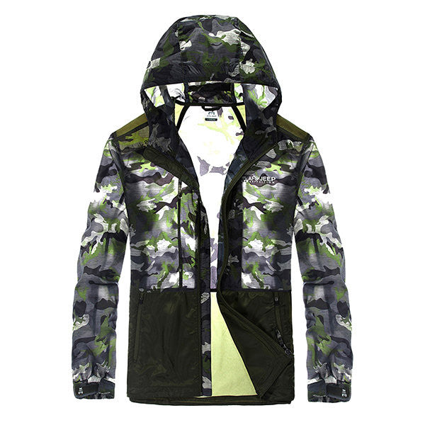AFSJEEP Outdoor Thin Sun Protective Camouflage Breathable Quick Drying Jackets for Men