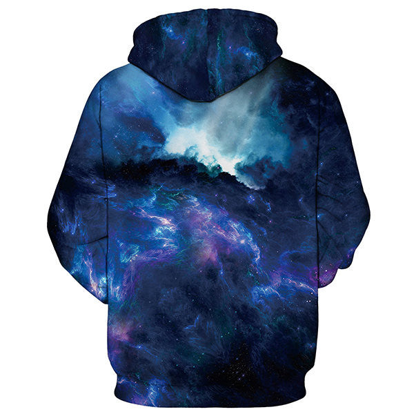 Mens Fashion 3D Colorful Couples Hoodie Unisex Print Galaxy Nebula Casual Sweatshirts