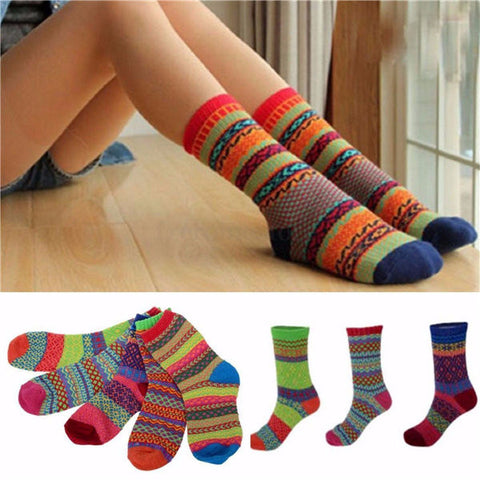 Men Women Stripe Cotton Socks Design Multi-Color Fashion Casual Ankle Sock