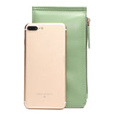 Women Vintage Flower Metal Hasp 20 Card Slots Ultra-thin Card Holders Purse Wallet 5.5inch Phone Bag