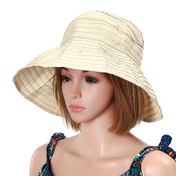 Women Summer Foldable Beach Sun Protective Hat Outdoor Driving Anti-UV Wide Brim Visor Cap