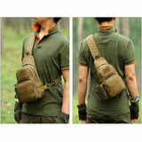 Men's Tactical Shoulder Bag Backpack Sling Chest Bag Assault Pack Messenger Bag