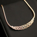 Fashion Crystal Chain Choker Chain Necklace