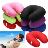 30x30cm U Shape Foam Microbead Neck Pillow Travel Office Rest Use Bedding Pillow