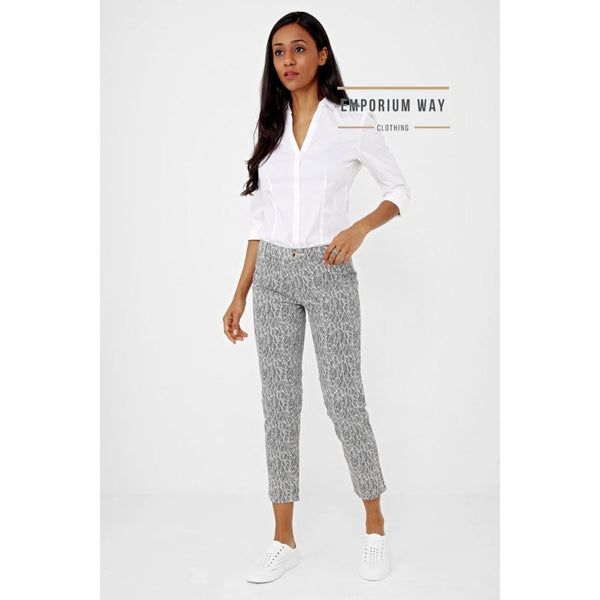 Leaf Print Trousers Ex Brand Jeans & Emporium Way Free Shipping $37.99