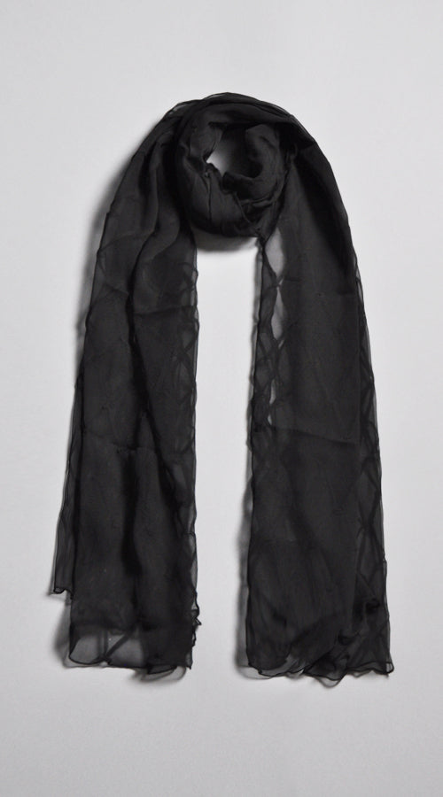 New Diamond Shawl - BLK
