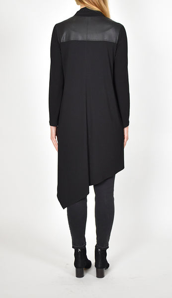 Asymmetric Long Sleeve Duster