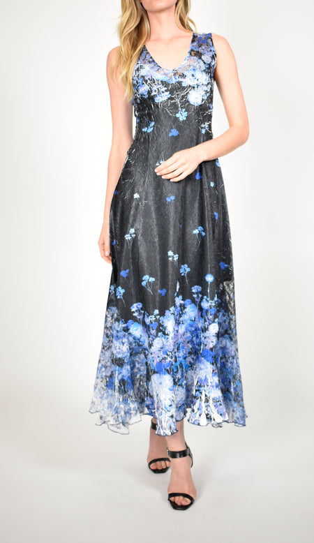 Chiffon Printed Maxi Dress