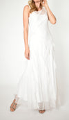 Sleeveless Tiered Gown