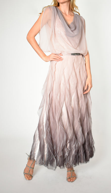 Tiered Chiffon Skirt