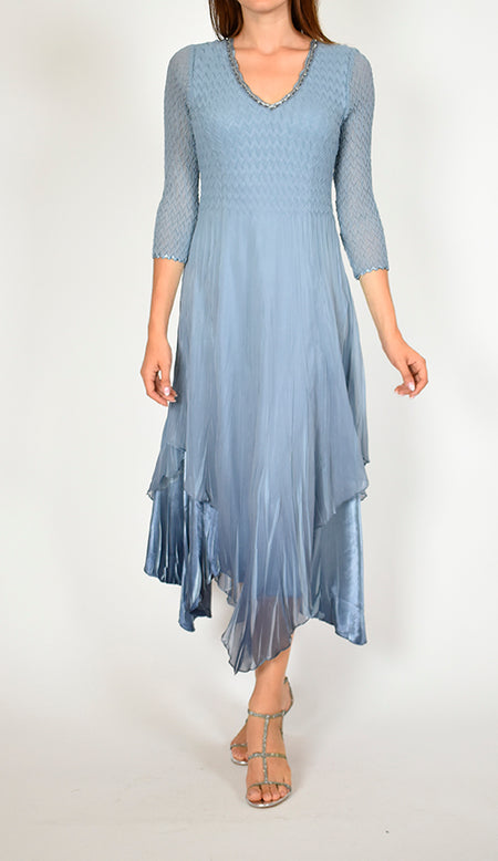 Cap Sleeve Long Dress