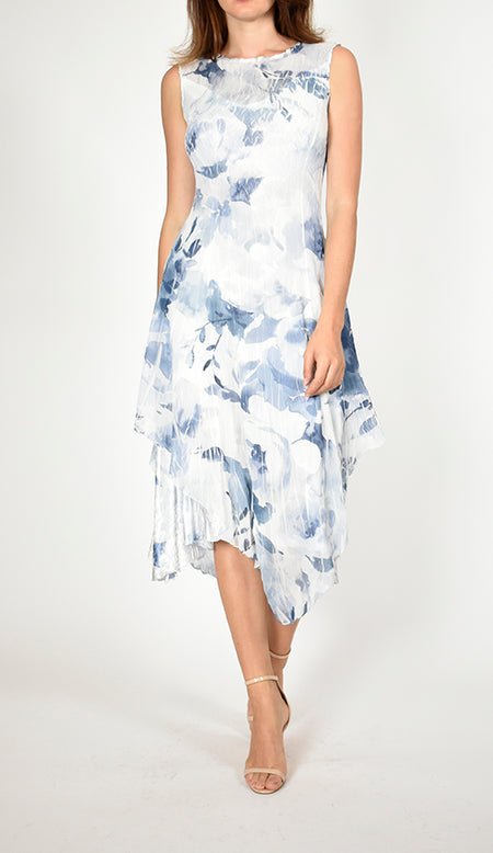 Sleeveless V-Neck Asymmetric Hem Dress