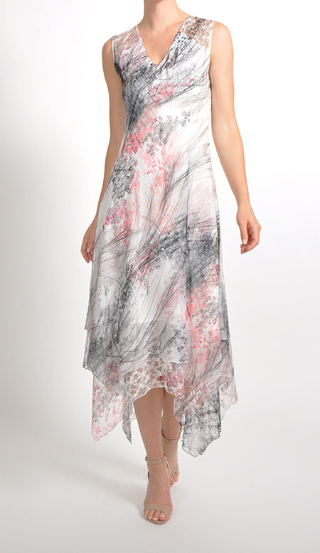 Asymmetric Layered Hem Dress