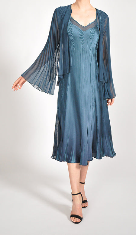 Paneled Chiffon Dress