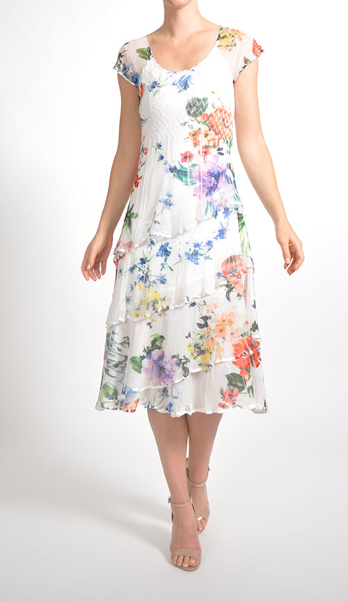 Cap Sleeve Flute Dress