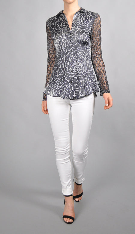 Lace Up Back Shirt