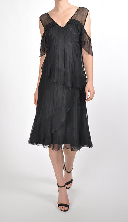 3/4 Sleeve Chiffon Dress