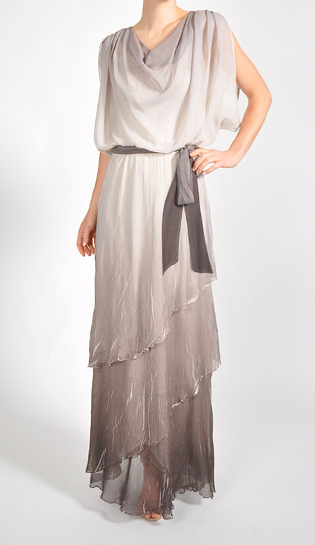 Long Blouson Dress.