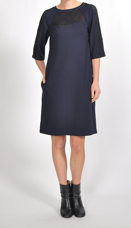 Collared V-Neck Dress