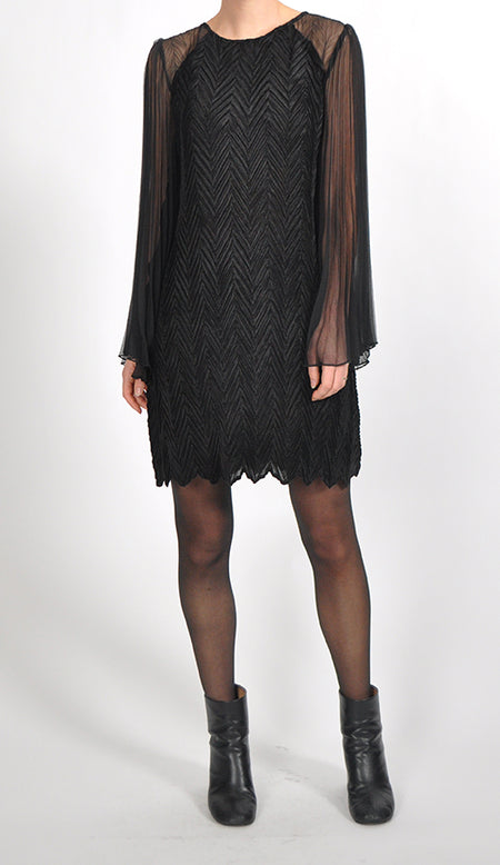 Long Sleeved Tiered Dress