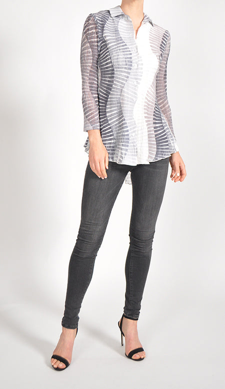 Long Sleeve Asymmetric Hem Shirt