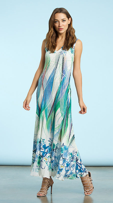 Sleeveless Ruffle Maxi Dress