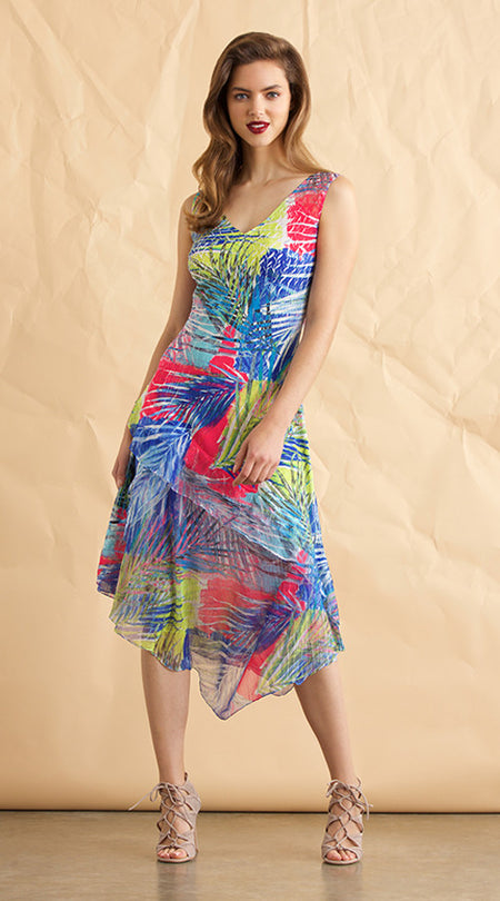 Chiffon Yoke Dress