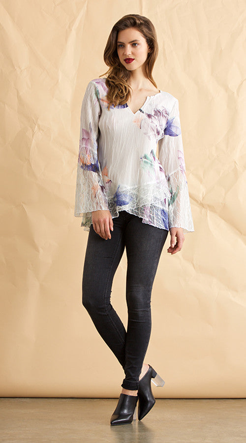 Wide Sleeve Peasant Top
