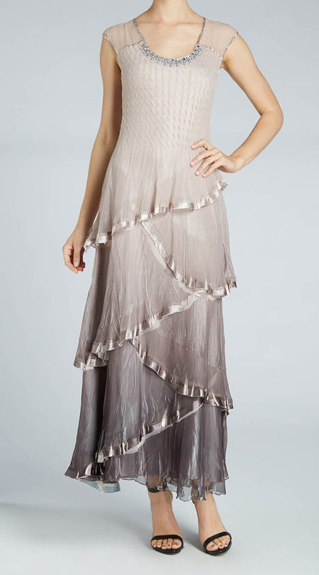 Chiffon Insert Dress