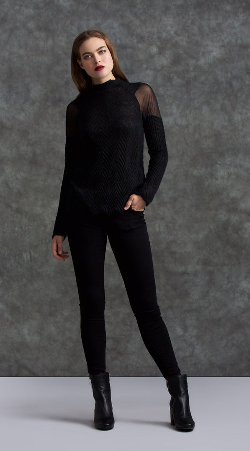 Sheer Shoulder Sweater