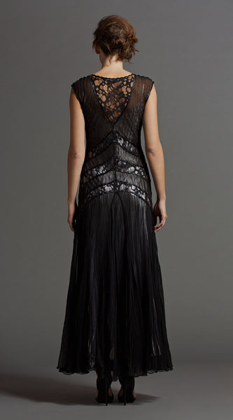 Long Dress W/ Lace Insert