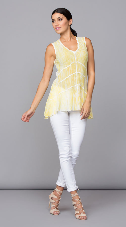 REVERSIBLE SLEEVELESS TUNIC