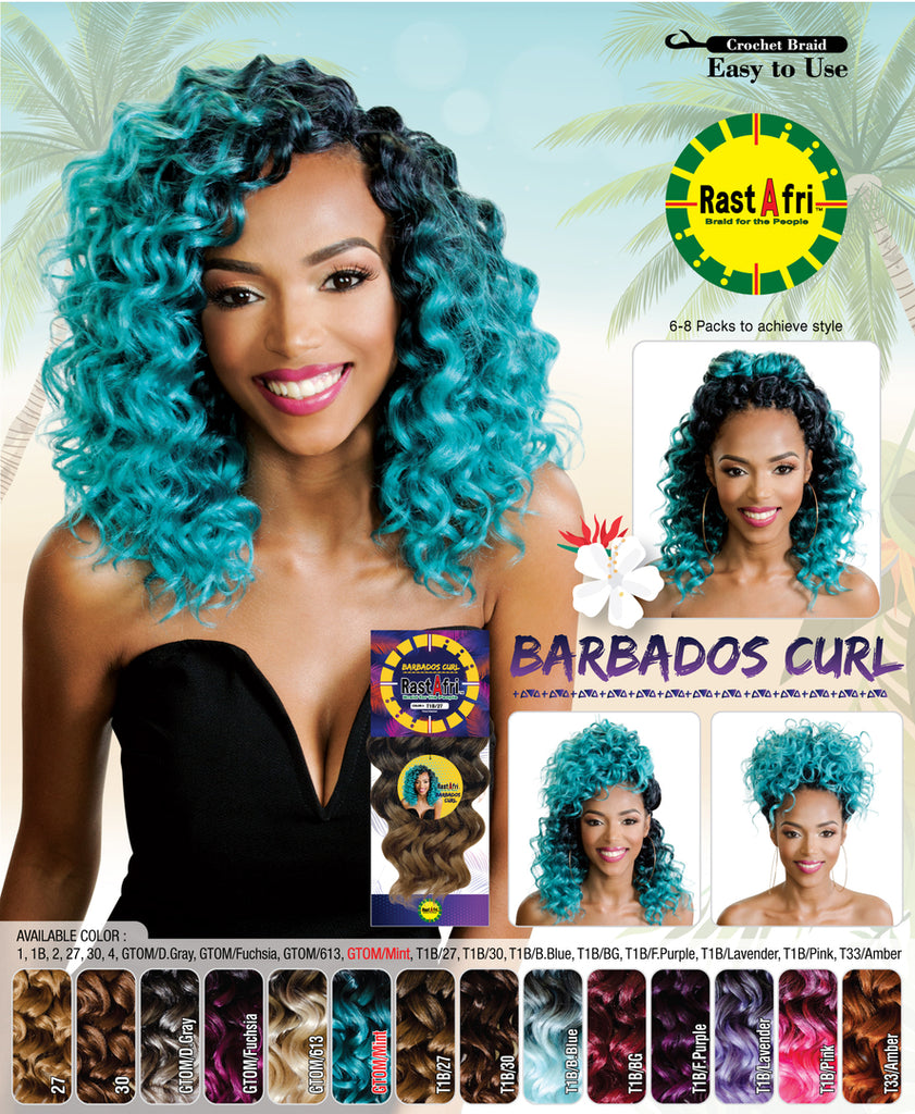 RastAfri Barbados Curl Crochet Hair