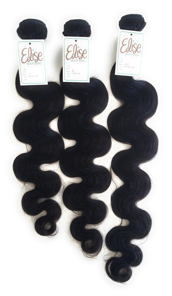 Human Hair 3 Bundles with Closure