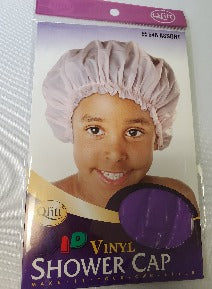 Purple kids shower cap