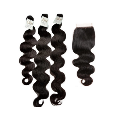 Human Hair 3 Bundle with Closure - Elise Beauty Supply