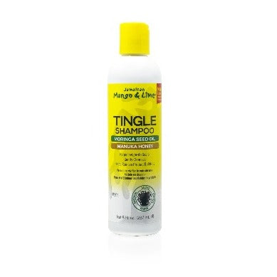 Jamaican Mango & Lime Tingle Shampoo Gently reomoves buildup on scalp