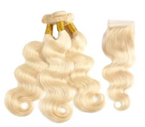 3 Bundles Deal with 4x4 Closure Blonde Body wave - Elise Beauty Supply