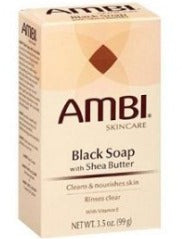Ambi Skin care Black soap with shea butter and Vitamin E