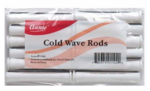 Annie Cold Wave Perm Rods White - Elise Beauty Supply