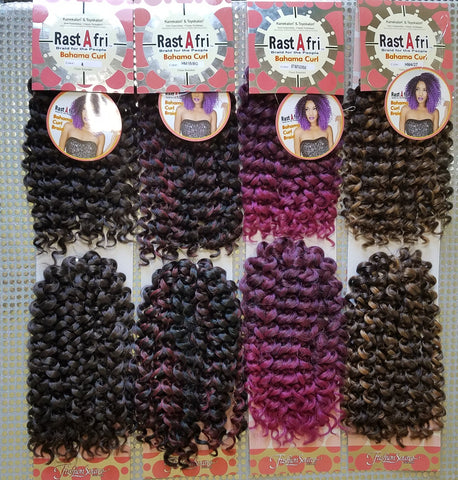 RastAfri Bahama Curl Crochet Braid- Elise Beauty Supply