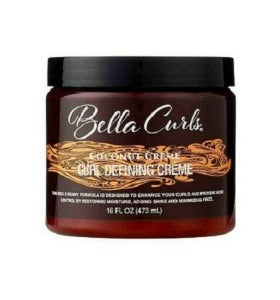 Bella Curls Coconut Creme Curl defining creme 16 oz.-elise beauty supply