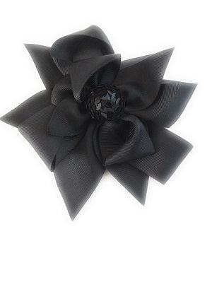 Girl's Hair Bows Black Sequin - Elise Beauty Supply