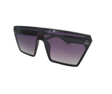 Trendy black sunglasses with purple tinted lens- Elise Beauty Supply