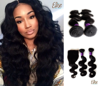 3 bundle with Closure 100 % Human hair bundles