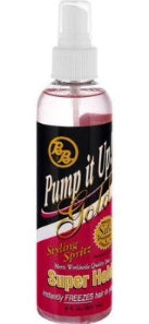 Bronner Brothers Pump it Up Super Hold Gold Styling Spritz 8 oz.