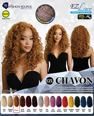 Chavon Lace Front Wig, 1B - Elise Beauty Supply