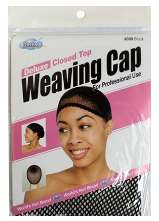 Deluxe Closed Top Weaving Cap Black- Elise Beauty Supply