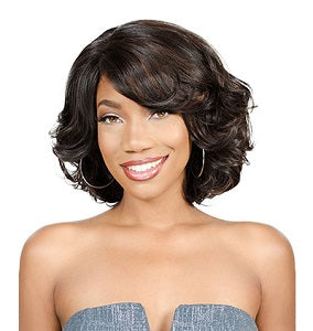 Elise Beauty Supply; Front lace wigs, Front lace wig Gennie, Short waves