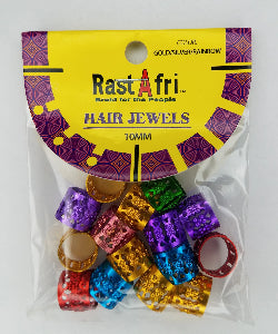 RastAfri Hair Jewel Cuffs 15 pcs - Elise Beauty Supply